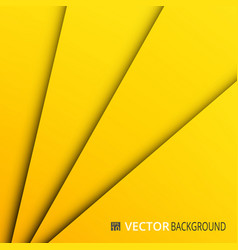 abstract of yellow paper cut layers background vector image
