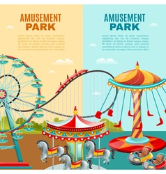 Amusement Park Vertical Banners vector