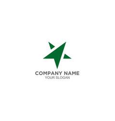 arrow star click logo design vector image