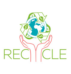banner about recycle hands vector image
