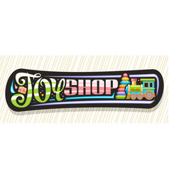Banner for toy shop vector