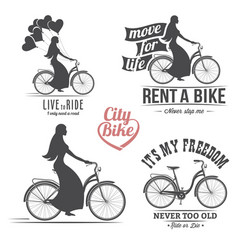 bicycle emblem vector image