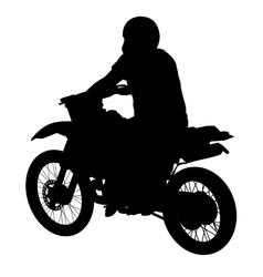 Black silhouettes sport bike on white background vector