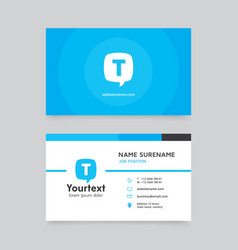 blue speech bubble business card vector image