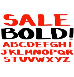 Bold handwritten alphabet vector