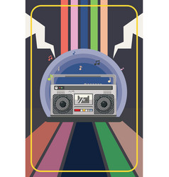 boombox party poster vector image