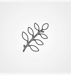 branch icon sign symbol vector image