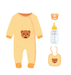brown baby set vector image