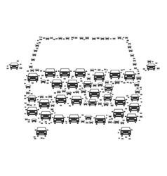 car icon shape vector image