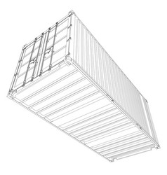 Cargo container wire-frame style vector