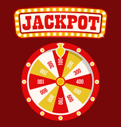 Casino online fortune wheel with slots and money vector