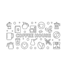 Coffee house horizontal vector