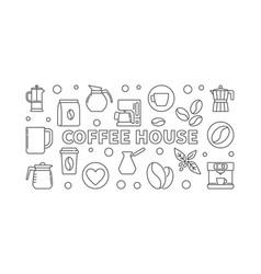 Coffee house horizontal - vector
