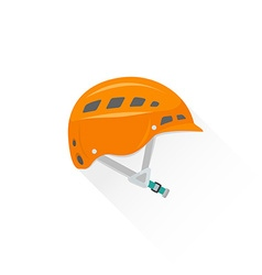 color alpinism equipment helmet icon vector image