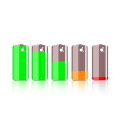 Colorful battery icon vector image