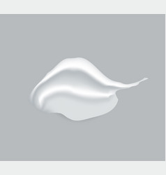 cosmetic cream creme smear isolated on background vector image