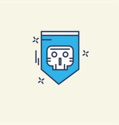 Cyber security icon with unique style vector