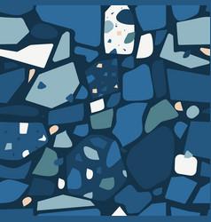 dark terrazzo flooring design seamless pattern vector image