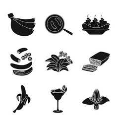 Design vitamin and eating icon set of vector