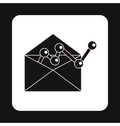 E-mail configuration icon simple style vector