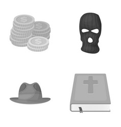 finance clothing and other monochrome icon in vector image