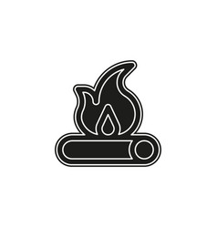 fire wood icon - campfire - firewood - fire flame vector image