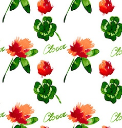 Floral Pattern Clover Flowers vector image