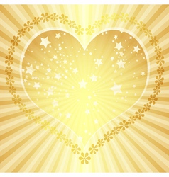 Golden valentine frame vector