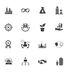 growth of business business finance icon set vector image