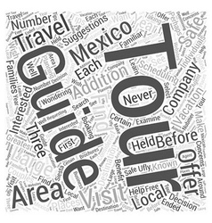 Guided Tours in Mexico Word Cloud Concept vector image