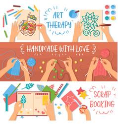 Handmade banners set vector