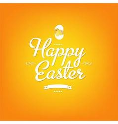 Happy Easter Orange Card vector image