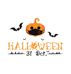 happy halloween 31 oct greetings vector image