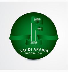 Happy saudi arabia national day celebration vector