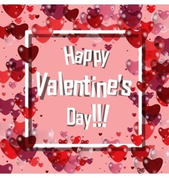 Happy valentines day pink background with vector