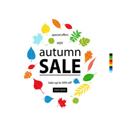 Hello autumn sale vector