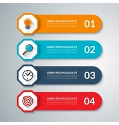 Infographic elements template with 4 steps vector