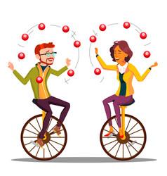 Juggling people business man woman vector