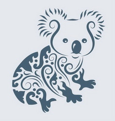 Koala ornament vector