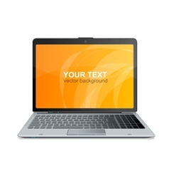 laptop isolated and text vector image