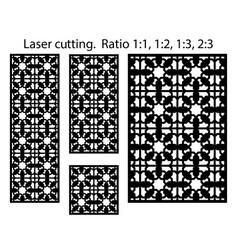 laser cutting arabesque decorative panel vector image