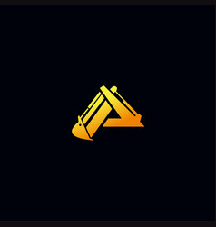 Letter p excavator logo design vector
