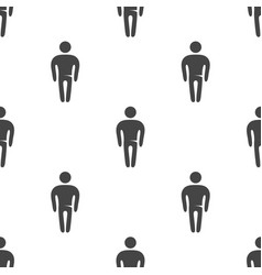 man seamless pattern vector image
