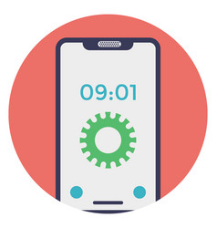 Mobile time setting vector
