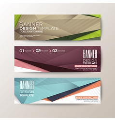 Modern design banners abstract triangle polygon vector