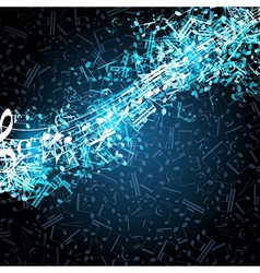 Notes musical background vector image