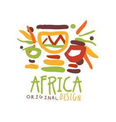 original african tribal doodle logo vector image