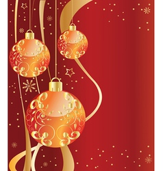 ornate ornaments red vector image
