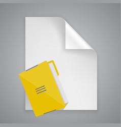 paper symbol folder vector image