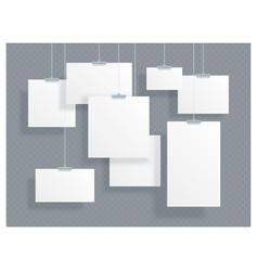 photo picture hanging frame paper gallery vector image